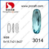 Rhinestone del cristal de 5*15m m con la configuración del diente para la fabricación de la joyería