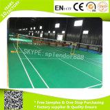 Badminton suelos de PVC pisos de vinilo Rolls por una pista de deportes