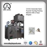 La macchina per l'imballaggio delle merci di nylon automatica della bustina di tè del triangolo con interno ed esterno avvolge
