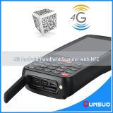 Scanner de código de barras com coletor de dados portátil de PDA sem fio portátil 4G