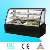 Refrigerador vertical do indicador do bolo