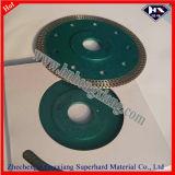 Lámina de gran durabilidad diamantada de larga duración con brida para cerámica