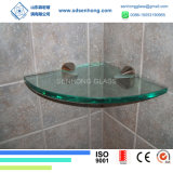 vidro Tempered desobstruído de 10mm para a prateleira do chuveiro