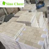 Prix en pierre normal de tuile de mur de mosaïque de brique de l'Espagne Crema Marfil