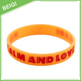 Debossed Colorfilled ha reso personale il Wristband, braccialetto reso personale del silicone di Colorfilled, |Fabbrica di Beiqi