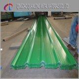 Hoja revestida del material para techos del metal del color de los materiales de construcción