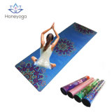 Non slip Custom Pattern logo print Natural Rubber Yoga Mat