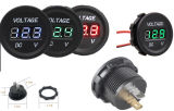 À prova de água 12V preto, vermelho, luz LED, Três Mostrador Digital Voltímetro para navio automóvel com certificação CE, Motociclo
