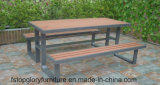 2018 Nouvelle conception de matériel Bois Plastique Outdoor Table Chaise