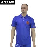 T-shirt bleu de luxe de polo de golf professionnel de qualité de Mens