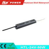 fonte de alimentação Htl do interruptor do transformador AC/DC do diodo emissor de luz de 24V 2A 50W
