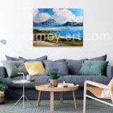 Pittura a olio blu 100% del cielo e del mare dipinto a mano su tela di canapa