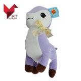 리본을%s 가진 서 있는 귀여운 견면 벨벳 아기 사슴 장난감