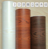 Mobilier en PVC Film feuille Woodgrain passent de la poire