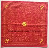 Pañuelo cuadrado rojo impreso diseño modificado para requisitos particulares producto de Paisley Headwrap del algodón del OEM de la fábrica
