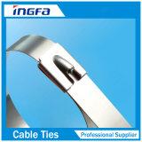 頑丈な銀製のステンレス鋼ケーブルのジッパーは4.6X350mmを結ぶ