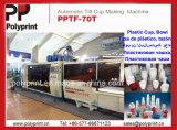 Macchina di Thermoforming di inclinazione per le tazze di plastica con 900cups al minuto (PP-70T)