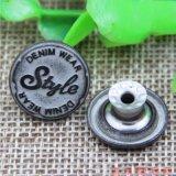주문 Embossed Vintage Brass Denim Jeans Buttons 및 Rivets