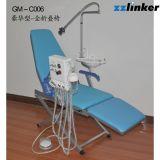 mit Licht-und Turbine-Systems-einfachem beweglichem zahnmedizinischem Stuhl
