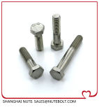 DIN931 SUS304, d'amorçage M12X40 de boulon de tête Hex de l'acier inoxydable 316 demi à M12X180