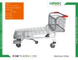 Carro Foldable do trole do armazém do fio resistente grande conveniente da capacidade do carro do armazenamento