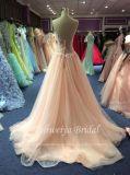 Aoliweiyaライン混合されたカラーレースのピンクのテュルのプロムの服
