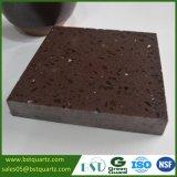 Bancada artificial da cozinha da pedra de quartzo de Brown da faísca