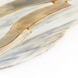 モザイククラフトガラスは台所床のボーダーのための木製の効果をタイルを張る