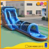 販売(AQ1036-5)のためのネットが付いている1枚の膨脹可能で長い水プールのスライドに付きジャイアント3枚