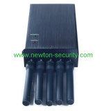 Emittente di disturbo senza fili portatile del segnale delle 5 antenne per GSM/Dcs/CDMA/3G/GPS/WiFi