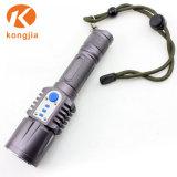 Torcia chiara impermeabile del USB LED della torcia elettrica ricaricabile della lega di alluminio del LED