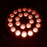 IGUALDAD al aire libre LED RGB IP65 12W de la iluminación 24PCS DMX