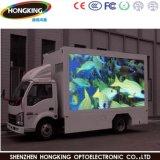 Camion mobile di media che fa pubblicità alla visualizzazione di LED