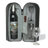 Custom Shockproof Hard EVA Wine Bottle Glasses Carrying Wine Puts with Two Cups