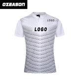カスタマイズされた100%年のポリエステル人の明白に昇華ラグビーのワイシャツ(R019)