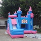 スライドを持つ女の子の膨脹可能な警備員のためのInflatable Castle Bouncer王女
