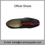 Sapatas militares baratas por atacado do oficial de exército da polícia do couro genuíno de China