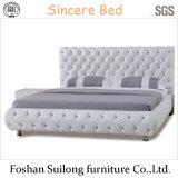 현대 작풍 디자인 가죽 침대