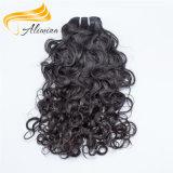O cabelo Curly cambojano mais grosso macio e liso tece