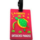 O preço o mais barato personalizou o Tag macio feito sob encomenda da bagagem do curso da tartaruga do PVC
