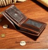 Custom Bifold мужчин RFID Wallet с монеты кошелек