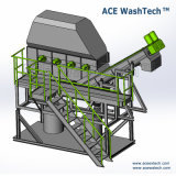 Planta de reciclaje plástica de la alta calidad PC/PS