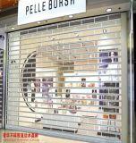 Laminación de cristal transparente de policarbonato de puerta de persiana Roller