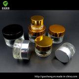 De cilindrische Kruik van de Room van de Schoonheidsmiddelen van het Glas