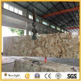 Preiswerte Brasilien-Baumaterial-Gelb-Basisrecheneinheits-Granit-Küche-Gegenoberseiten
