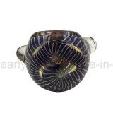 Tubulação de vidro da colher com interior - revestimento para fora calcinado das emanações (ES-HP-404)