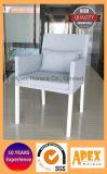 Im Freientextilstuhl-speisender Stuhl Textylene Aluminiumlehnsessel