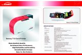 O cartão de identificação de plástico cor digital máquina de impressão da impressora
