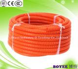 Câble électrique orange en PVC souple du tuyau de conduit