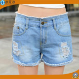 Form-Frauen/der Dame Embroidery Casual Denim Shorts des Sommer-2017